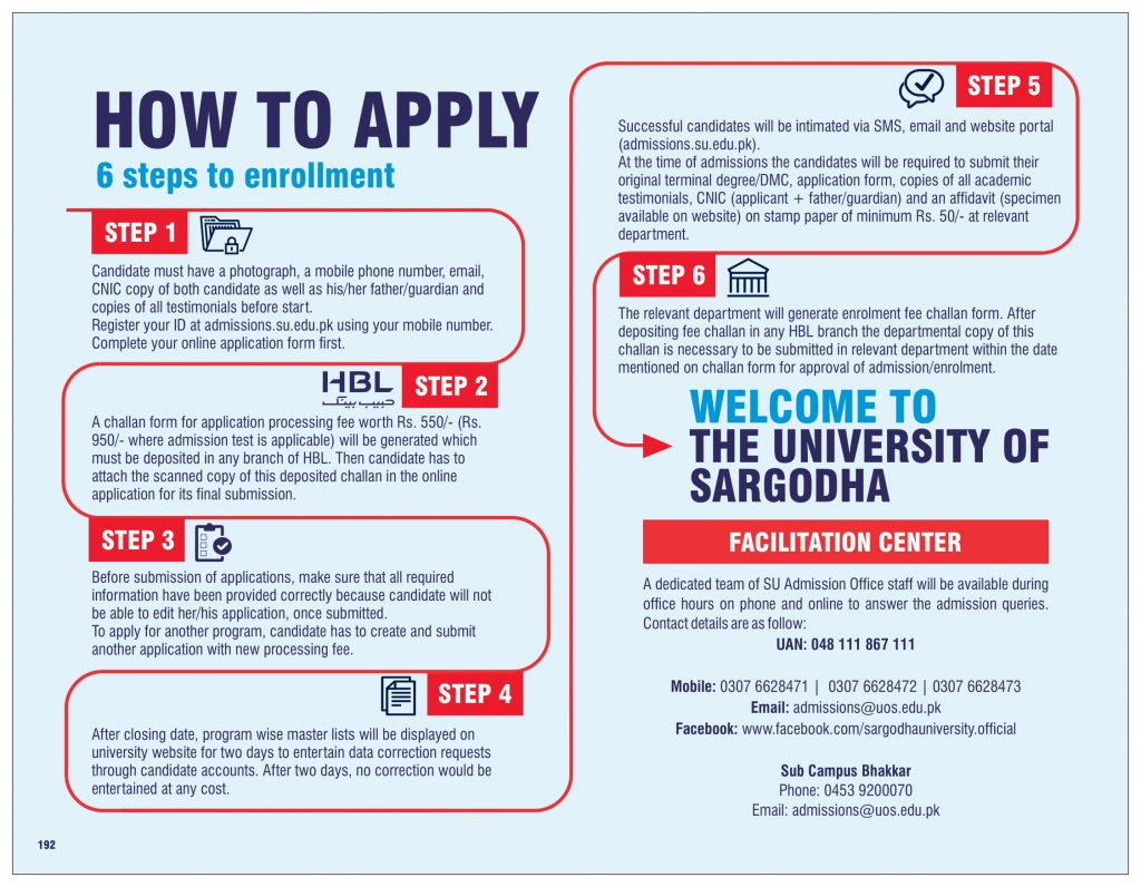 How to Apply UOS Admission 2020