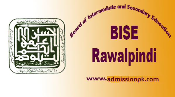 BISE Rawalpindi Board 9th Class Roll No slips