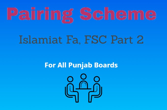 All Punjab Boards FA, Fsc 2nd Year Islamiat Pairing Scheme 2021
