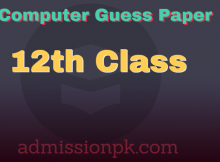 12th class computer guess paper