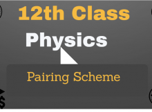 12th class physics pairing scheme fsc 2nd year