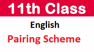 Intermediate FA/ FSc Ist Year English Pairing Scheme 2021